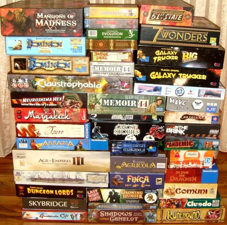 Настольные игры из коробок